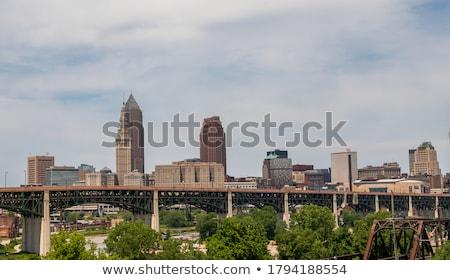 şehir · merkezinde · Ohio · gün · batımı · şehir · ufuk · çizgisi - stok fotoğraf © alex_grichenko