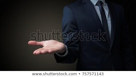 üzletember kezek fej izolált üzlet kéz Stock fotó © fuzzbones0