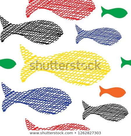 Little fish under water sketch icon Stock photo © RAStudio