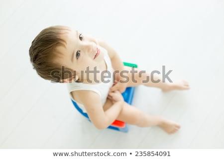 boy sitting on the potty Stock photo © adrenalina