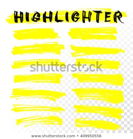 Citromsárga szövegkiemelő kép absztrakt toll tanulás Stock fotó © njnightsky