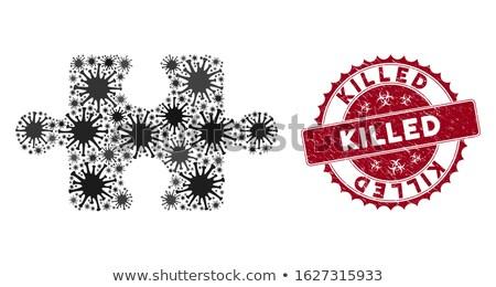 killing   text on red puzzles stock photo © tashatuvango