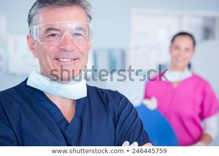 歯科 · 眼鏡 · 外に · 歯科 · 少女 - ストックフォト © wavebreak_media