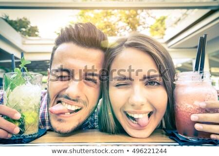 Mutlu an yakışıklı adam genç yakışıklı Hint Stok fotoğraf © ziprashantzi