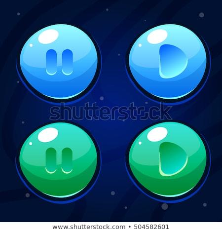 Felhő körkörös vektor lila webes ikon gomb Stock fotó © rizwanali3d