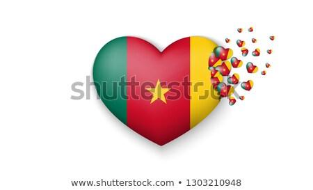 Amor Camarões assinar isolado branco bandeira Foto stock © MikhailMishchenko