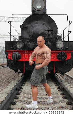 сильный рубашки человека локомотив металл спортзал Сток-фото © Paha_L