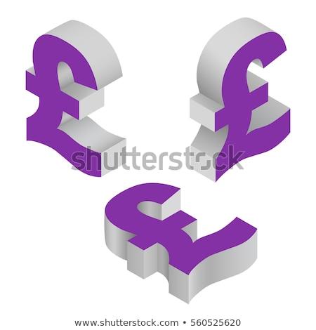 Pound Sign Violet Vector Icon Design Stock photo © rizwanali3d