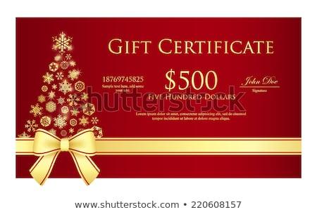 Exclusivo natal dourado prata fita Foto stock © liliwhite