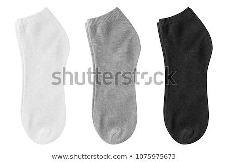 Zwarte sokken witte mode achtergrond mannen Stockfoto © shutswis