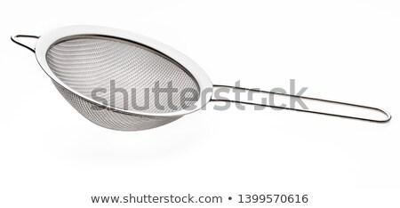 Domestic metal sieve on white background Stock photo © shutswis