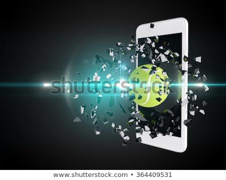 Teniszlabda kitörés ki okostelefon technológia tenisz Stock fotó © teerawit