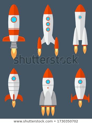 Vaisseau spatial espace eps 10 feu lune Photo stock © ayaxmr