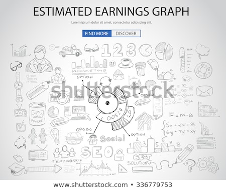 Estimate Earnings concept with Doodle design style Stock photo © DavidArts