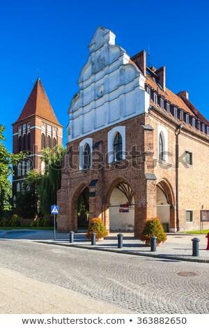 Belediye binası Polonya Bina şehir tarih kasaba Stok fotoğraf © phbcz