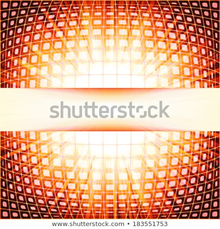 Technology squares with red flare burst. EPS 10 Stock photo © beholdereye