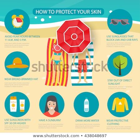 solar · creme · protetor · solar · homem · sol · tela - foto stock © adrenalina