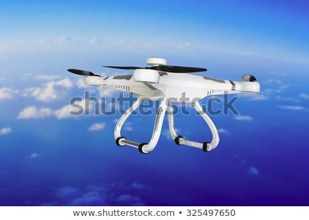 Flying helicopter with camera Stock photo © RAStudio
