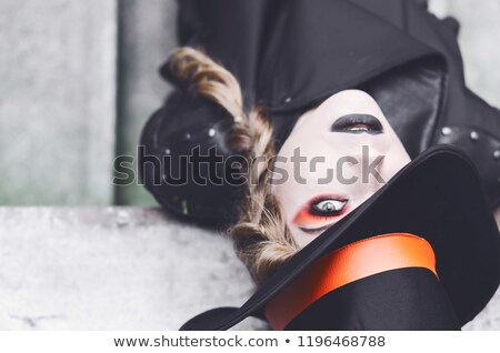 Portrait of gothic girl wearing tophat  Stock photo © Elisanth