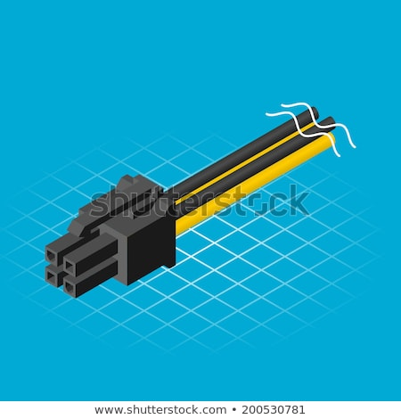 Isometric Four Pin Connector  Stock photo © ridjam