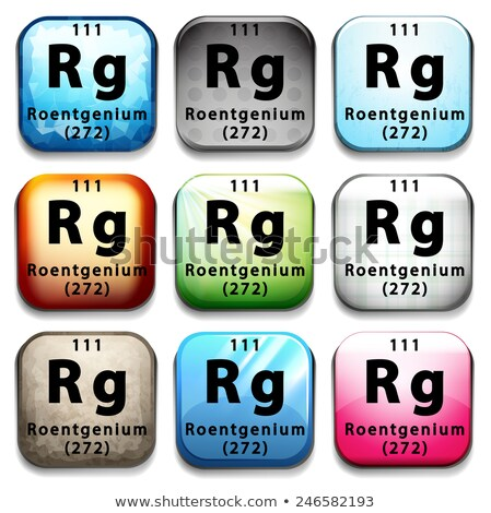 A button showing the element Roentgenium Stock photo © bluering