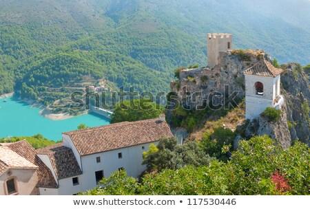 Reservatório Espanha belo ver vale céu Foto stock © amok