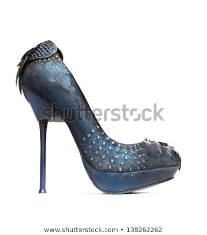 ペア · 黒 · ハイヒール · 靴 · 孤立した · 白 - ストックフォト © elisanth