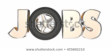 Jobs Automotive Trucking Career Wheels Word 3d Illustration Stock photo © iqoncept
