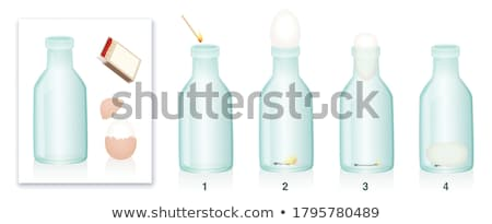 Four glass bottles Stock photo © bluering
