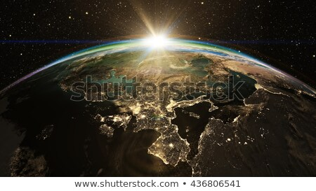 Earth's natural satellite Stock photo © bluering