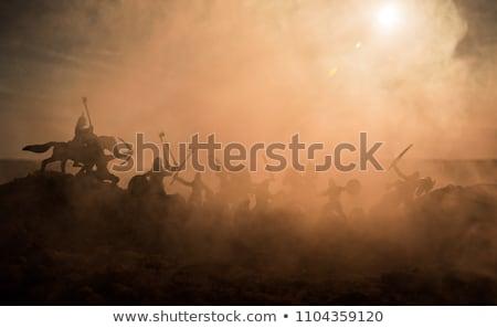Bataille domaine jet avions battant désert Photo stock © bluering
