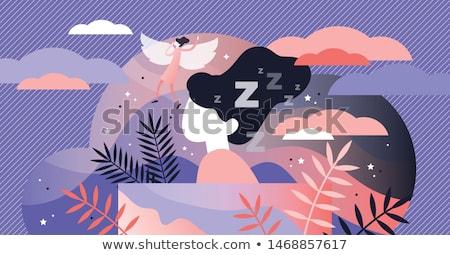 Illusztráció álom lány éjszaka ágy vicces Stock fotó © adrenalina
