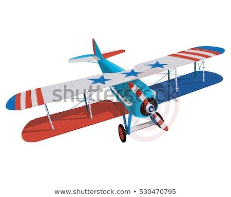 Rajz vadászrepülő repülőgép vektor eps10 formátum Stock fotó © mechanik