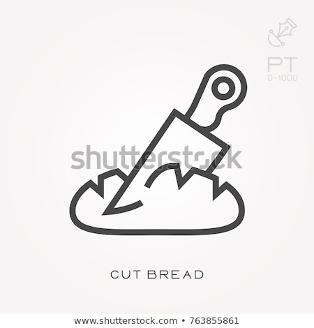 Bread logo. Bakery emblem. Loaf of soft tack sign Stock photo © popaukropa
