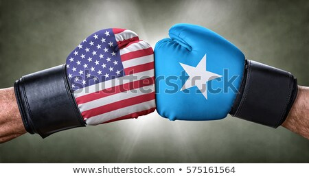 A boxing match between the USA and Somalia Stock photo © Zerbor