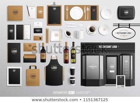 vector realistic wine bottle mock up stock photo © frimufilms