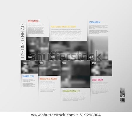 インフォグラフィック タイムライン テンプレート ビッグ 写真 ベクトル ストックフォト © orson
