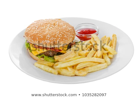 frenchfries on the plate stock photo © bluering
