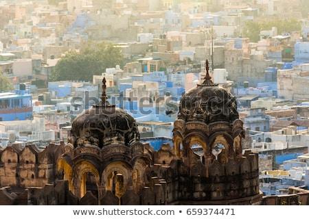 Stockfoto: Blauw · stad · Indië · schoonheid · baksteen