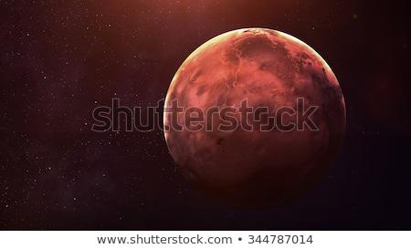 Planet Mercury on a background of stars Stock photo © Noedelhap