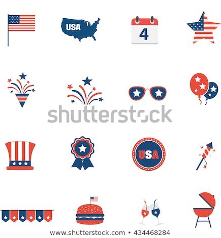USA Independence Day Line Icons Set Stock photo © Voysla