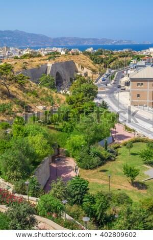 Cidade velha veneziano fortificação parede portão céu Foto stock © tuulijumala
