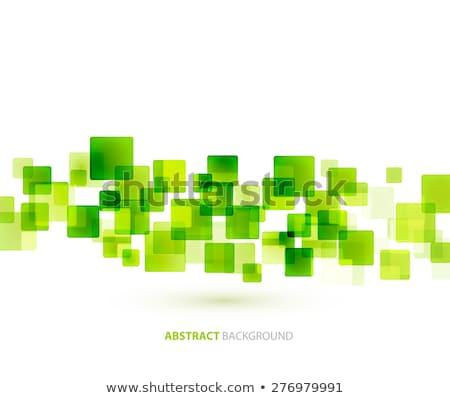Zöld fényes négyzetek technikai vektor formák Stock fotó © fresh_5265954