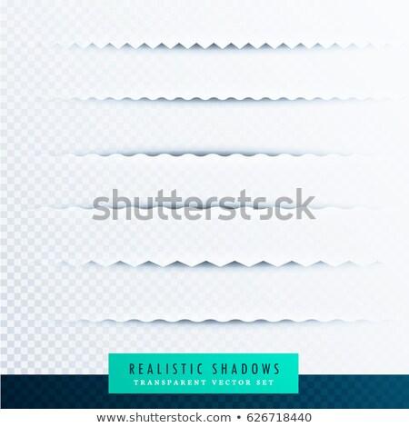 Zigzag papier schaduwen effect collectie transparant Stockfoto © SArts