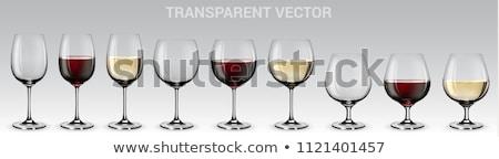 verre · vin · rouge · illustration · bol · plein - photo stock © pakete