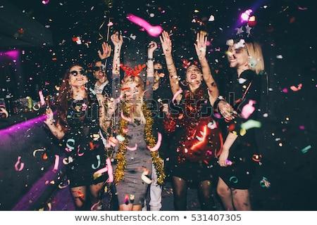 Elegancki atrakcyjny para klub nocny uśmiech sexy Zdjęcia stock © konradbak