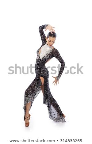 Meisje danser tango jurk mooie jonge vrouw Stockfoto © svetography