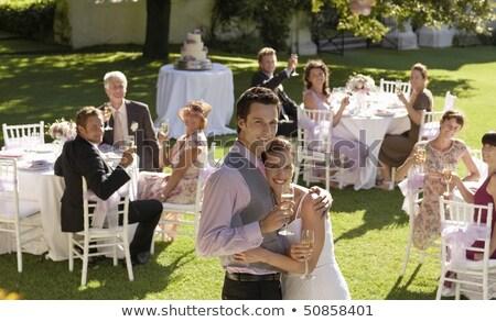 невеста жених Постоянный портрет любви человека Сток-фото © wavebreak_media