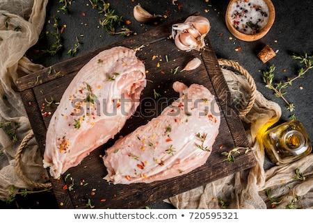 vág · baromfi · ízletes · pörkölt · Törökország · tányér - stock fotó © yelenayemchuk
