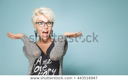 short hair beautiful girl wow Stock photo © studiostoks